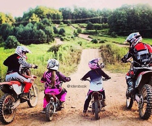 dirt bike, family, and cute image