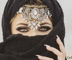 arabian, eyes, and makeup image