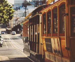 adventure, cable car, and california image