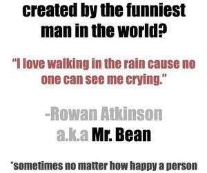 quotes, text, and mr.bean image
