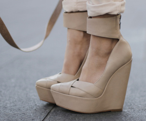 fashion, nude shoes, and girl image