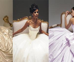 dresses, princess, and satin image