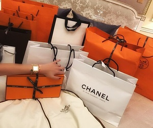 chanel, hermes, and shopping image
