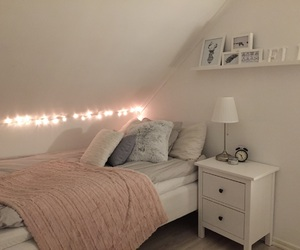 bed, design, and lamp image