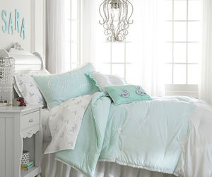 bedding, bedroom, and blankets image