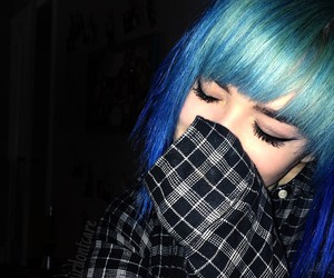 blue hair don't care and xoe arabella image
