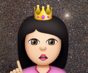 emoticon, girl, and Queen image