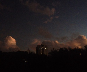 clouds, dark, and night image