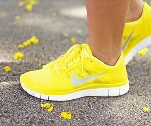 nike, yellow, and shoes image