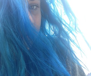 blue, face, and grunge image