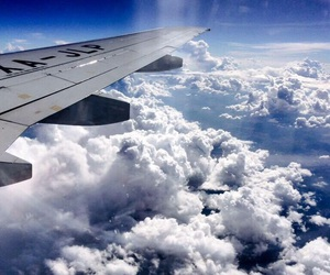 airplane, blue and white, and Dream image