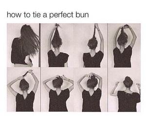 hair, bun, and perfect image