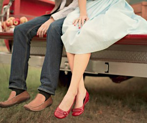 apples, red, and shoes image