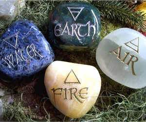 air, fire, and water image