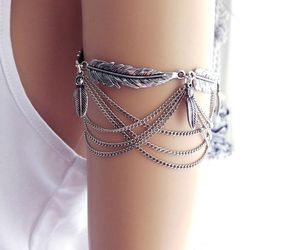 accessories, bracelet, and feather image