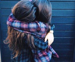 amor, hug, and girls image