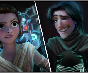 star wars, tangled, and kylo ren image