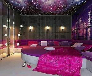 room pink galaxy image