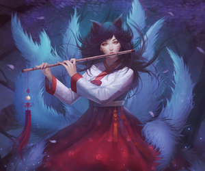 ahri, league of legends, and art image
