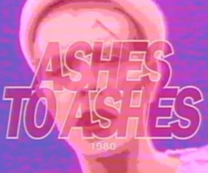 1980, ashes to ashes, and david bowie image