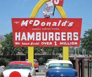 red, McDonalds, and retro image
