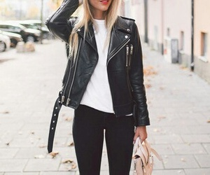 black, black and white, and fashion image