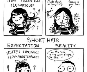 hair, funny, and comic image