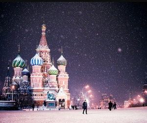 russia, moscow, and snow image