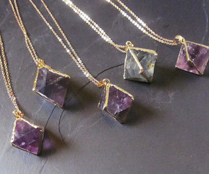 necklace, jewelry, and purple image