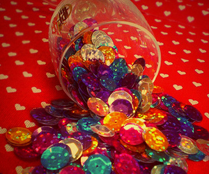 colors, heart, and sequins image