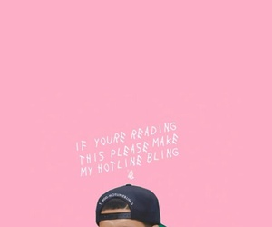 Drake, pink, and hotline bling image