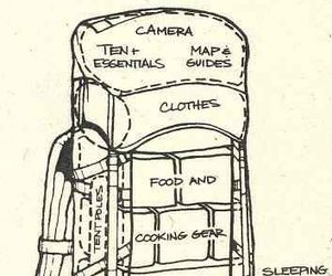 travel, bag pack, and vani image