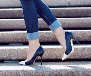 heels and jeans image