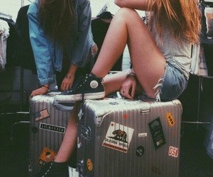 travel, friends, and grunge image