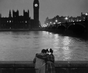 black and white, couple, and london image