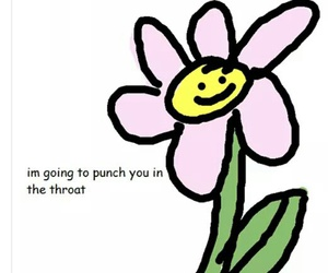 funny, meme, and flowers image