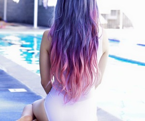 pink and purple hair image