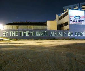 gone, street art, and text image
