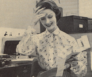 fashion, office, and vintage image