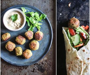 falafel, food, and vegan image