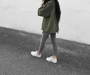 brunette, outfit, and style image