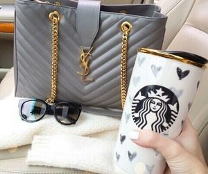 starbucks, bag, and YSL image