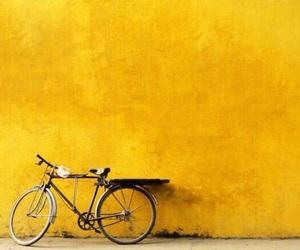 yellow, bike, and aesthetic image