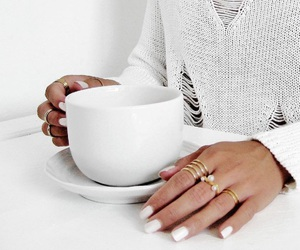 bright white, coffee mug, and nails image