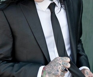 motionless in white, chris, and tattoo image
