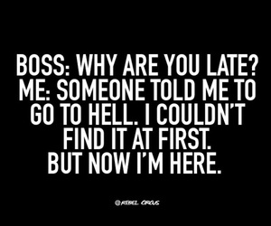 boss, funny, and hell image
