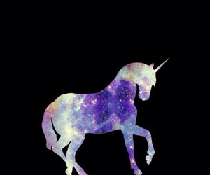 unicorn, wallpaper, and galaxy image