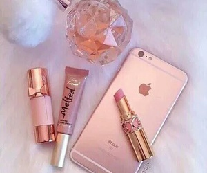 iphone, lipstick, and phone image