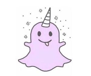 snapchat, unicorn, and ghost image