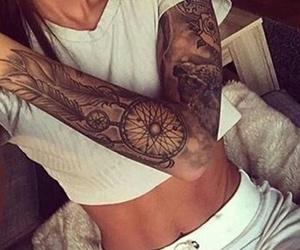 beautiful, girl, and Tattoos image